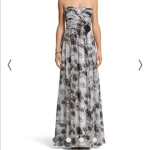 WHBM Sweetheart Style Printed Evening Gown - Sz 8